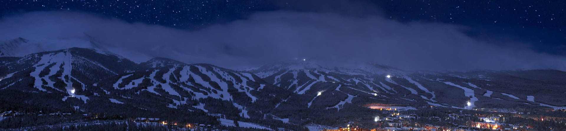 Nighttime in Breckenridge, CO 1920x450